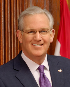 The Missouri General Assembly overrode Democratic Missouri Gov. Jay Nixon's veto of a $621 million bill to implement the state's first incometax cut since the 1920s. (Courtesy of the Governor's office of Missouri.)