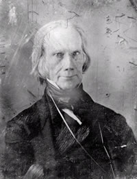 "Henry Clay<br>CREDIT: Mathew Brady Studio. ""Henry Clay, Head-and-shoulders Portrait, Facing Front."" Between 1850 and 1852. America's First Look into the Camera: Daguerreotype Portraits and Views, 1839-1864, Library of Congress."